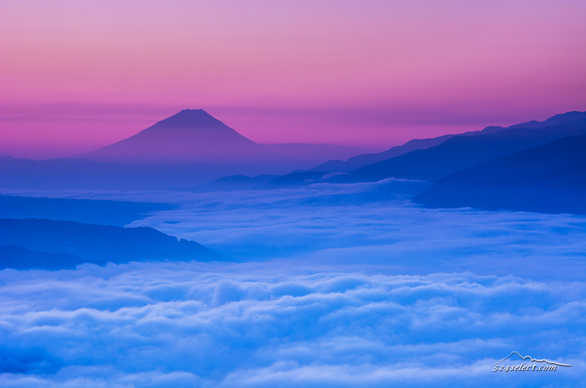 日本の風景図鑑ブルーアワー(朝薄明)
